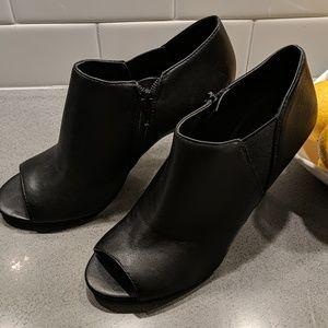 Nine West Peep Toe Booties Heels